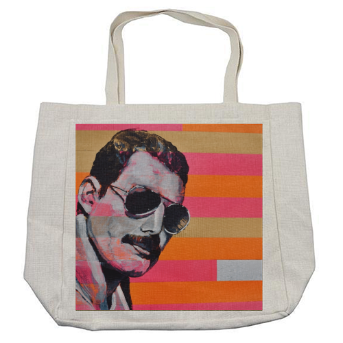 Freddie Mercury - cool beach bag by Kirstie Taylor