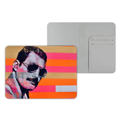 Freddie Mercury - designer passport cover by Kirstie Taylor