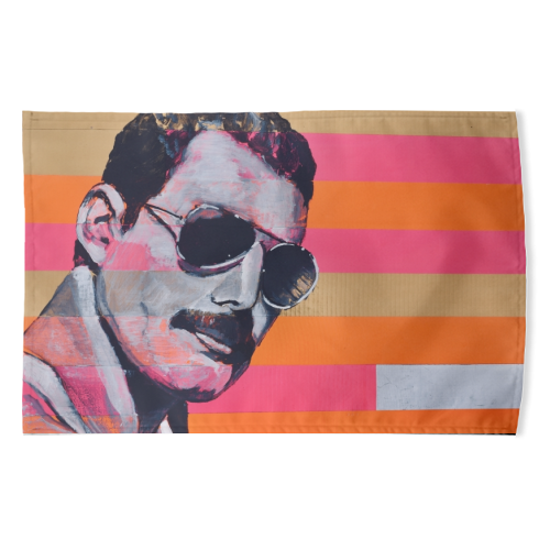 Freddie Mercury - funny tea towel by Kirstie Taylor
