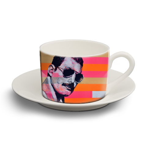 Freddie Mercury - personalised cup and saucer by Kirstie Taylor