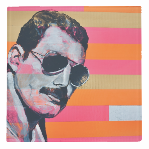 Freddie Mercury - personalised drink coaster by Kirstie Taylor