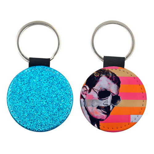 Freddie Mercury - personalised picture keyring by Kirstie Taylor