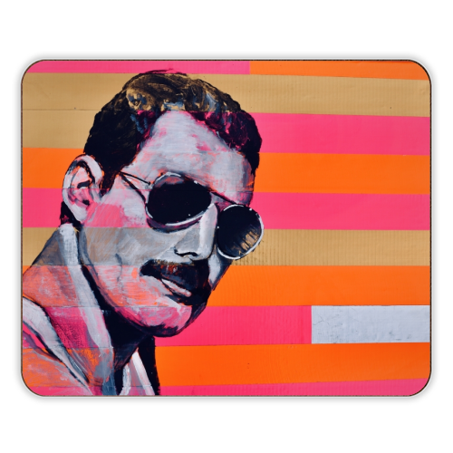 Freddie Mercury - photo placemat by Kirstie Taylor