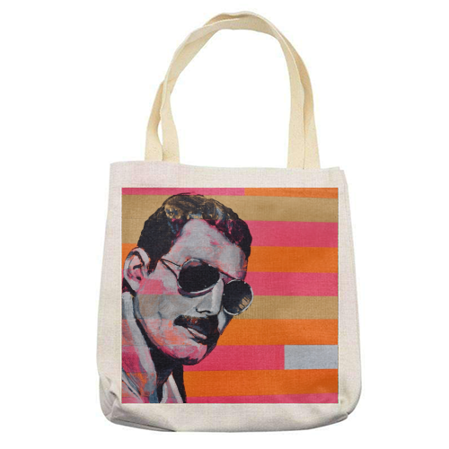 Freddie Mercury - printed tote bag by Kirstie Taylor