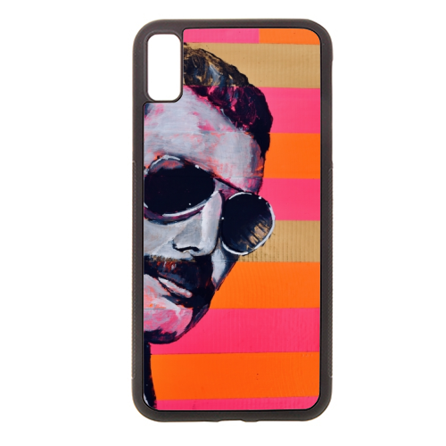 Freddie Mercury - Rubber phone case by Kirstie Taylor