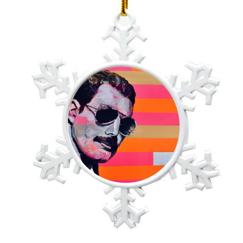 Freddie Mercury - snowflake decoration by Kirstie Taylor