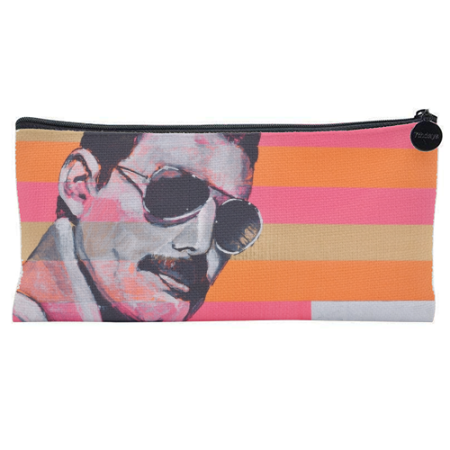 Freddie Mercury - unique pencil case by Kirstie Taylor