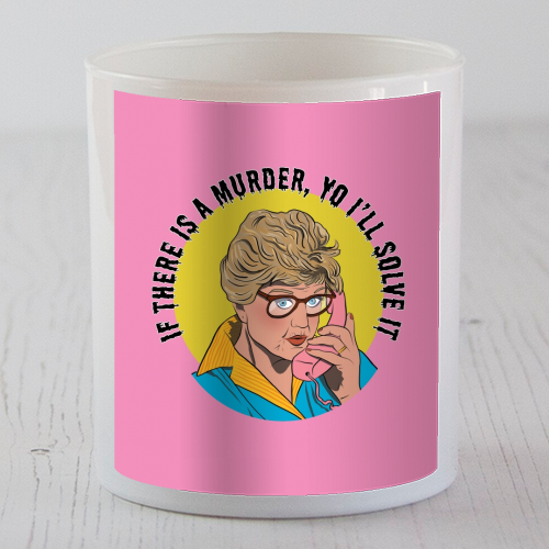 Murder She Wrote Mash Up - Candle by Niomi Fogden