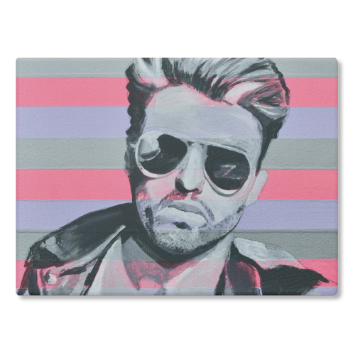 George - glass chopping board by Kirstie Taylor