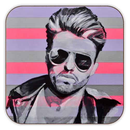 George - personalised drink coaster by Kirstie Taylor