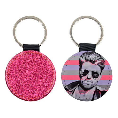 George - personalised picture keyring by Kirstie Taylor