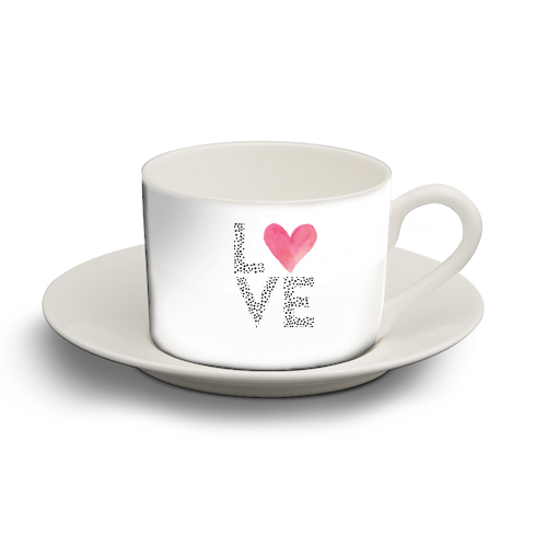 LOVE - personalised cup and saucer by The 13 Prints