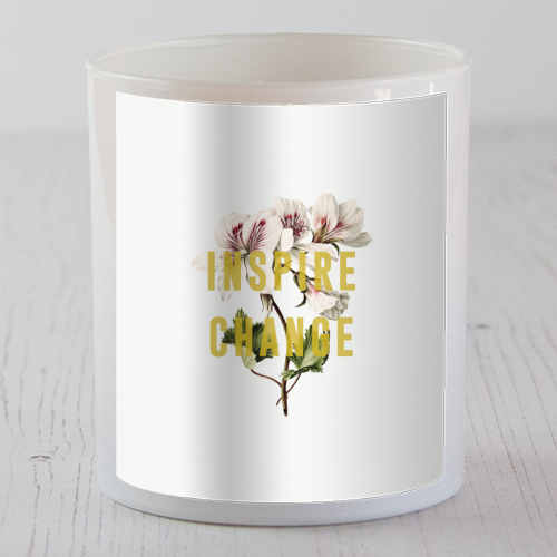 Inspire Change - Candle by The 13 Prints