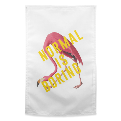 Normal Is Boring - funny tea towel by The 13 Prints