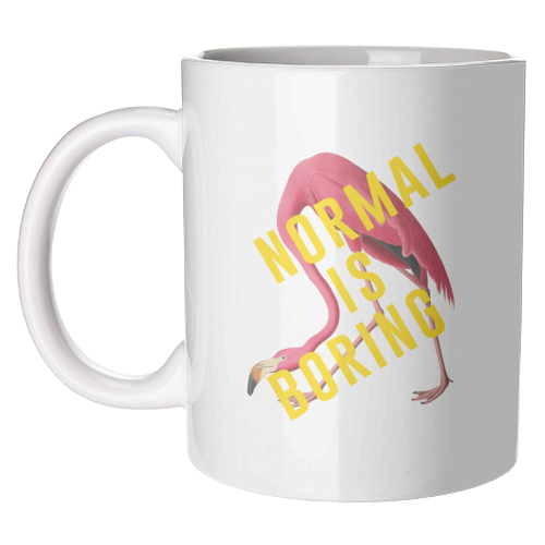 Normal Is Boring - unique mug by The 13 Prints