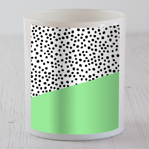 Mint Dalmatian print | green abstract print - Candle by The 13 Prints