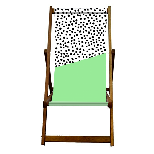 Mint Dalmatian print | green abstract print - canvas deck chair by The 13 Prints