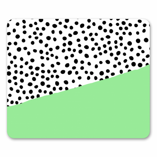 Mint Dalmatian print | green abstract print - personalised mouse mat by The 13 Prints