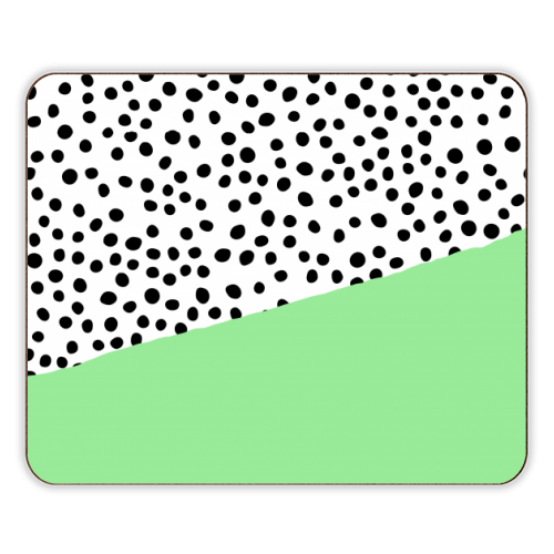 Mint Dalmatian print | green abstract print - photo placemat by The 13 Prints