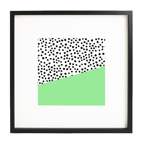 Mint Dalmatian print | green abstract print - printed framed picture by The 13 Prints