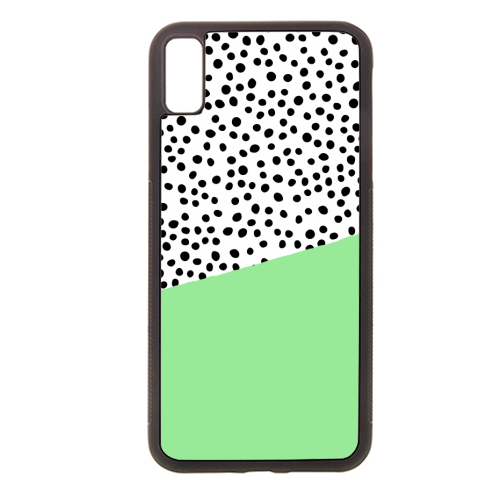 Mint Dalmatian print | green abstract print - Rubber phone case by The 13 Prints