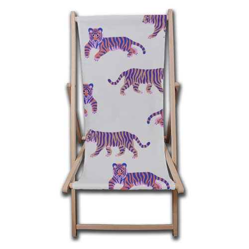 Tigers - canvas deck chair by Catalina Williams