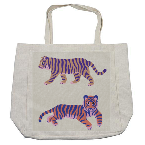 Tigers - cool beach bag by Catalina Williams