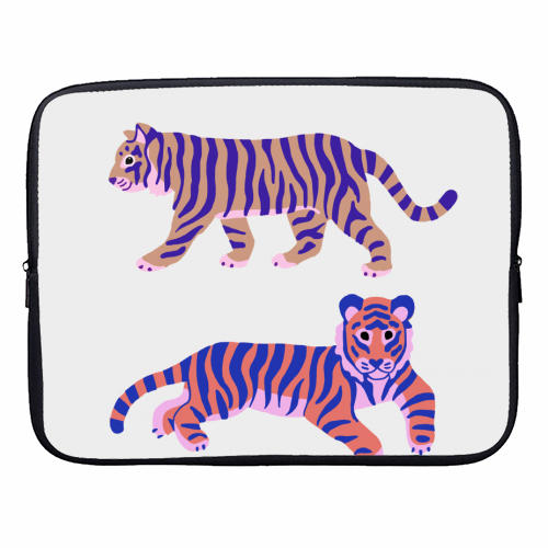 Tigers - designer laptop sleeve by Catalina Williams