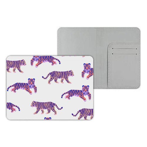 Tigers - designer passport cover by Catalina Williams