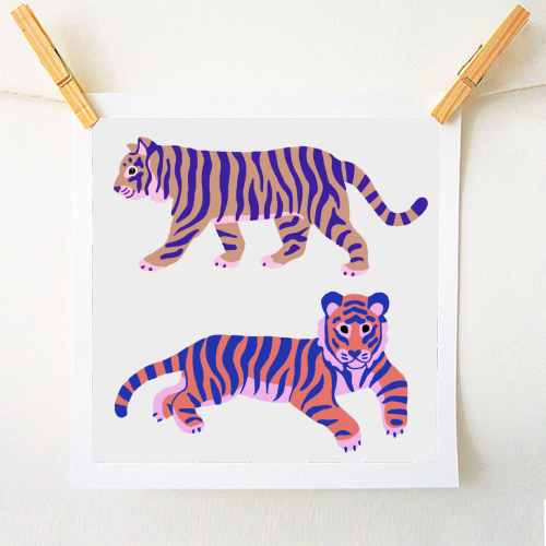 Tigers - original print by Catalina Williams