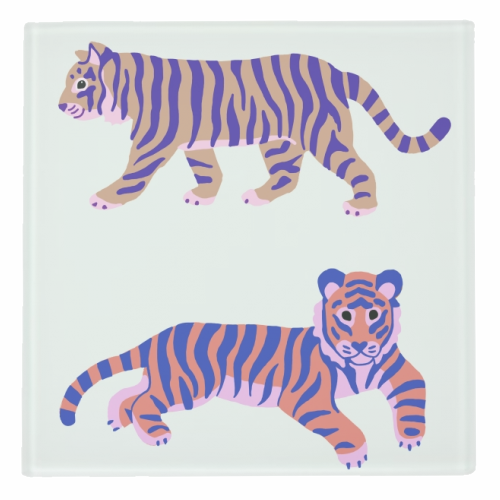 Tigers - personalised drink coaster by Catalina Williams