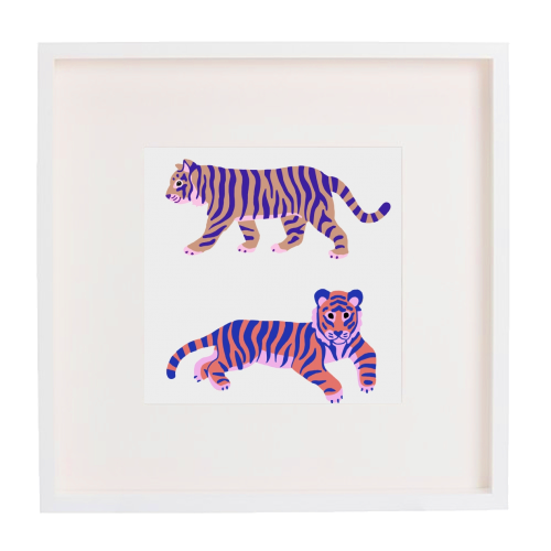 Tigers - printed framed picture by Catalina Williams