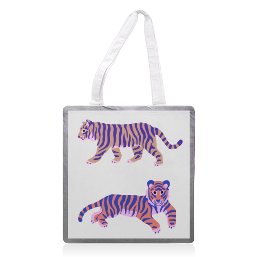 Tigers - printed tote bag by Catalina Williams