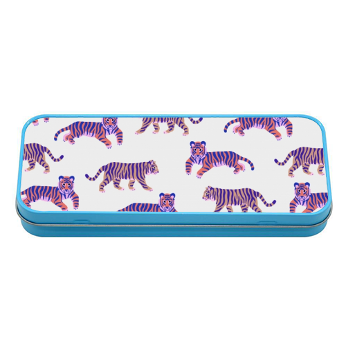 Tigers - tin pencil case by Catalina Williams