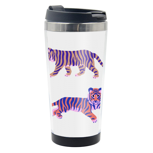 Tigers - travel water bottle by Catalina Williams