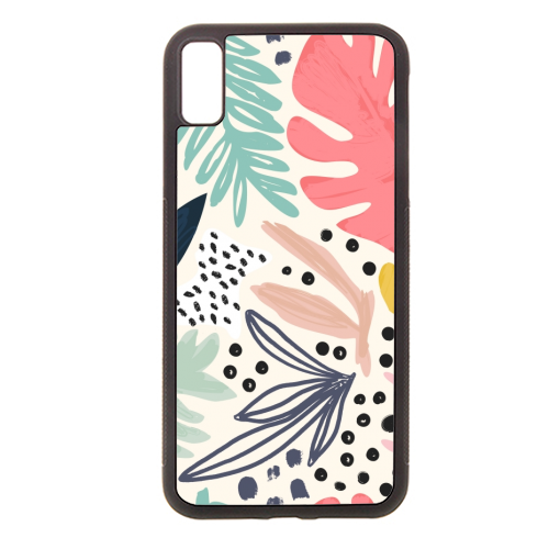 Tropical Collage Pattern - Rubber phone case by Dizzywonders