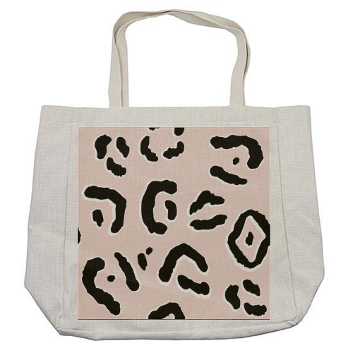 Modern Pink Leopard Animal Print - cool beach bag by Dizzywonders