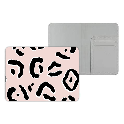 Modern Pink Leopard Animal Print - designer passport cover by Dizzywonders
