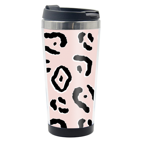 Modern Pink Leopard Animal Print - travel water bottle by Dizzywonders