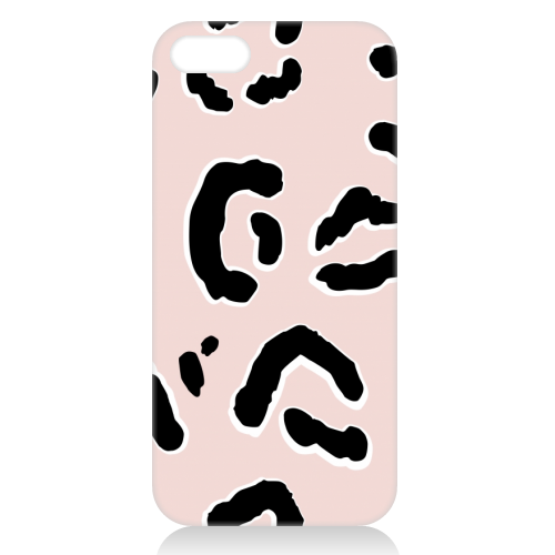 Modern Pink Leopard Animal Print - unique phone case by Dizzywonders