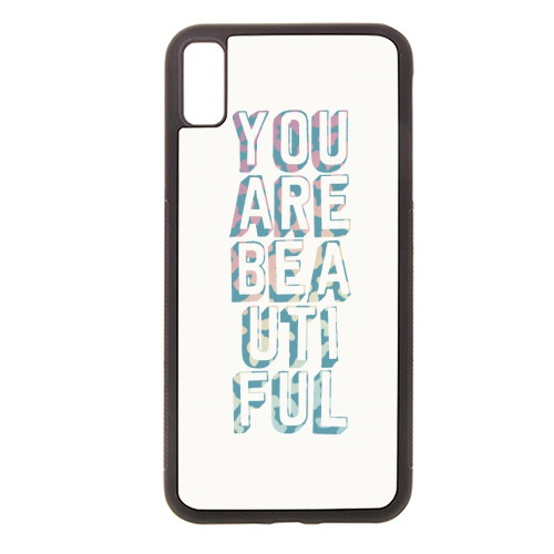 You are beautiful - Rubber phone case by Cheryl Boland