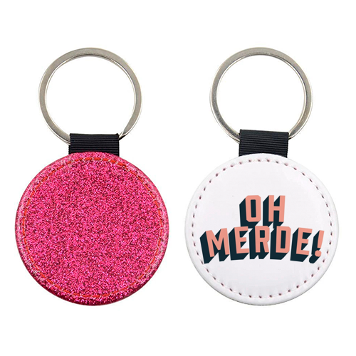 Oh Merde! - personalised picture keyring by The Native State