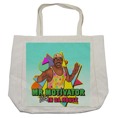 Mr Motivator Stay In Da House - cool beach bag by Niomi Fogden