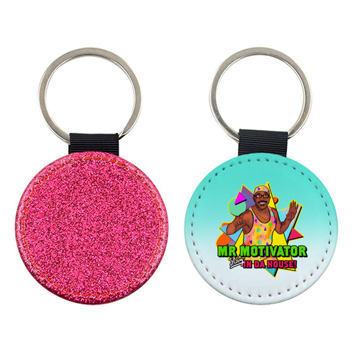 Mr Motivator Stay In Da House - personalised leather keyring by Niomi Fogden