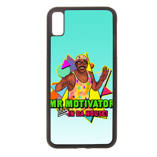 Mr Motivator Stay In Da House - Rubber phone case by Niomi Fogden