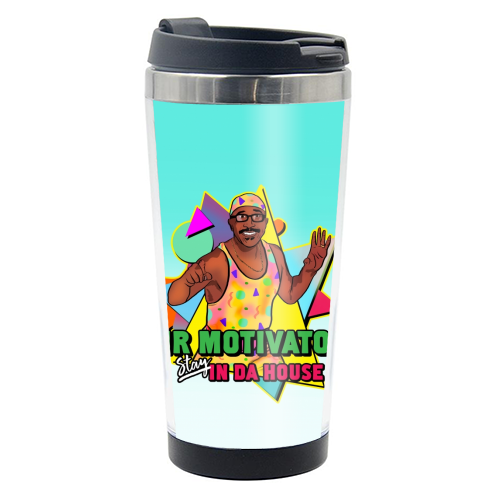 Mr Motivator Stay In Da House - travel water bottle by Niomi Fogden