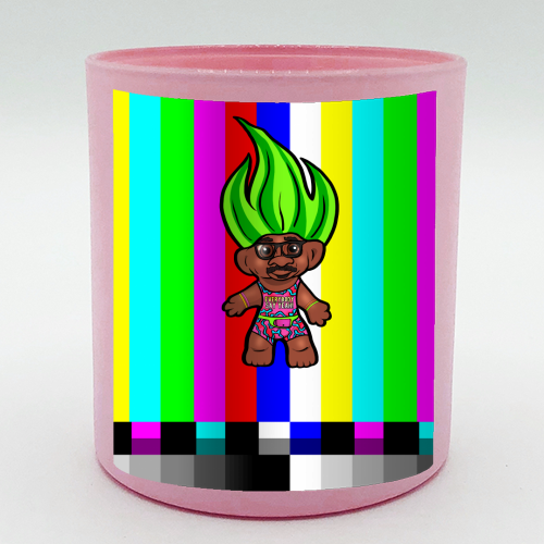 Mr Motivator 90s Troll - Candle by Niomi Fogden