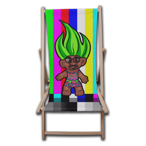 Mr Motivator 90s Troll - canvas deck chair by Niomi Fogden