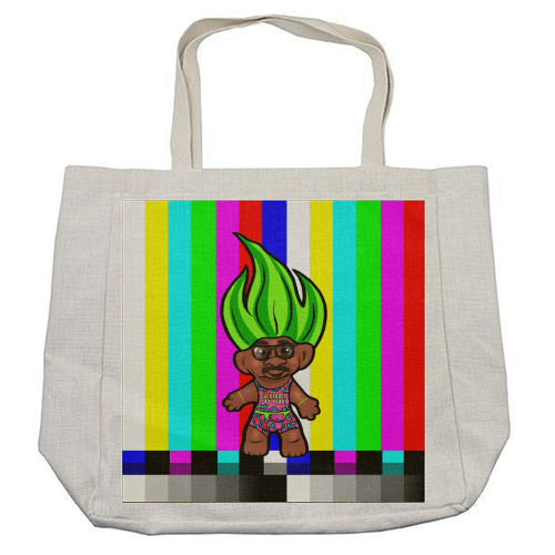 Mr Motivator 90s Troll - cool beach bag by Niomi Fogden