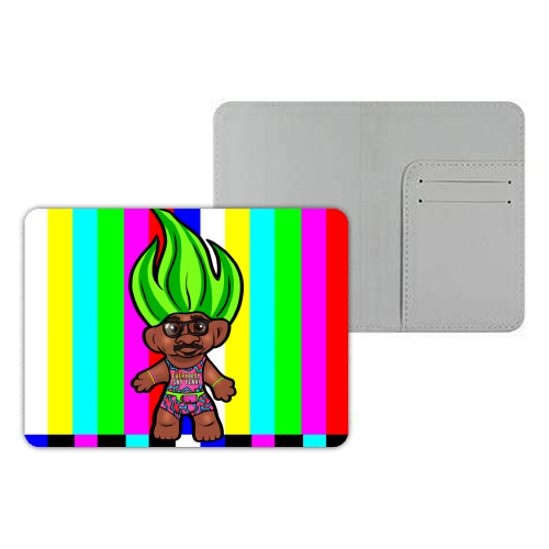 Mr Motivator 90s Troll - designer passport cover by Niomi Fogden